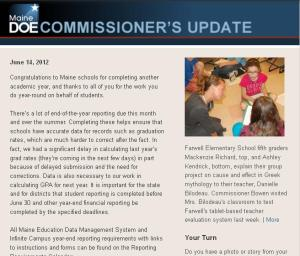 Commissioner's Update--June 14, 2012.