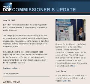 Commissioner's Update - June 28, 2012