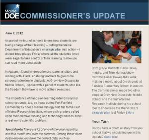 Commissioner's Update, June 7, 2012