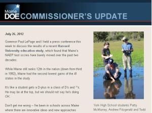 Commissioner's Update, July 26, 2012