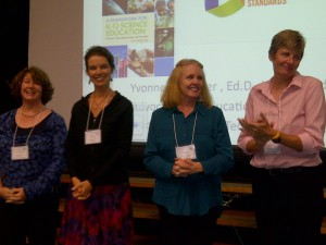 Maine's four finalists for the 2012 Presidential Award for Excellence in Mathematics and Science Teaching: Karen Jagolinzer, Elizabeth Vickery, Sally Plourde and Lauree Gott.