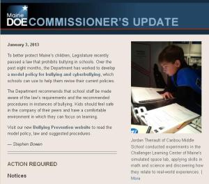 Commissioner's Update - Jan. 3, 2013