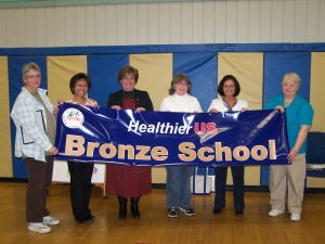 Piscataquis Community Elementary School earns the Healthier U.S. School Challenge award.
