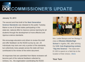 Commissioner's Update - January 10, 2013