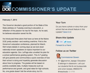 Commissioner's Update - Feb. 7, 2013