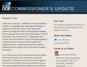Commissioner's Update - Feb. 21, 2013