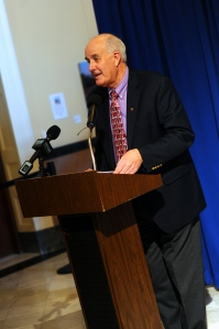 Acting Commissioner Rier speaks at Adult Education Day at the Maine State House.