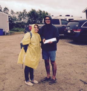 Migrant Education Program interns Laura Perez and Jesse Juntura
