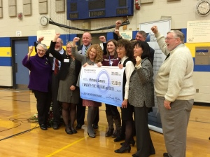 Ms. Lamarre celebrates with several of Maine's veteran Milken Educators