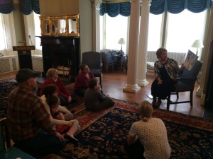 First Lady Ann LePage reads to military children as she kicks off Maine's Read To Me Challenge